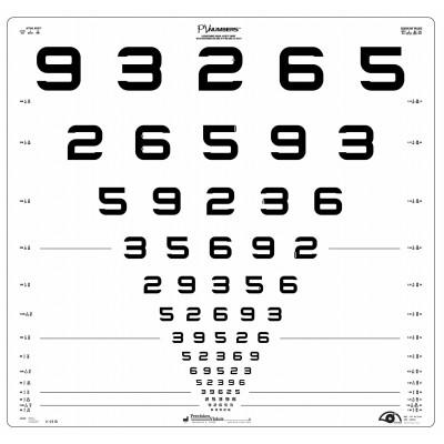 Logmar 3m ETDRS Number Chart