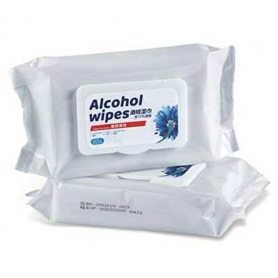 Anti-Bacterial Alcohol Wipes pack of 50
