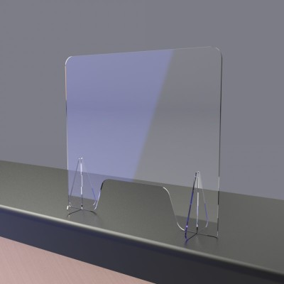 Freestanding Perspex Screen Guard